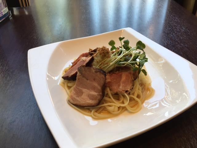 小松菜とアサリの生パスタ